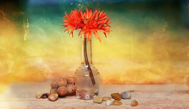 https://pixabay.com/de/blume-dekoblume-steine-vase-693416/