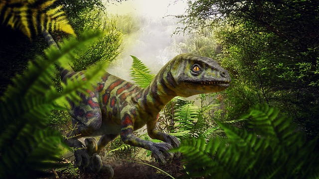 https://pixabay.com/de/dinosaurier-raptor-urwald-farn-3473630/