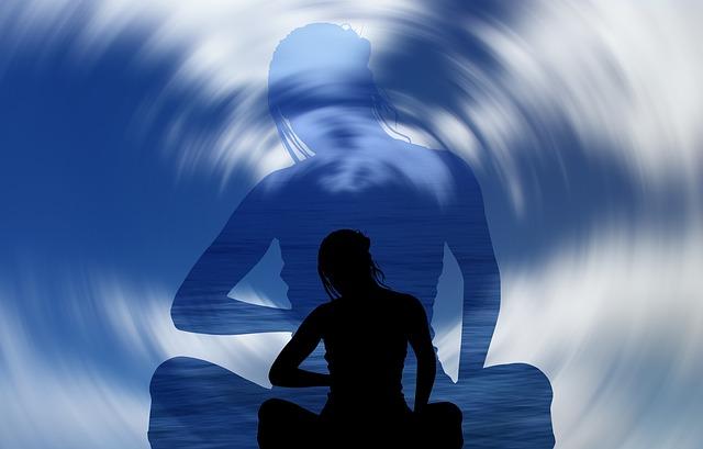 https://pixabay.com/illustrations/woman-silhouette-meditation-clouds-1927662/