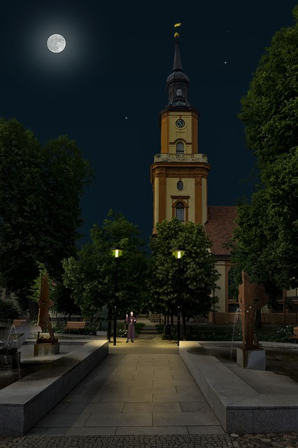 https://pixabay.com/photos/church-night-moon-pastor-light-4189448/