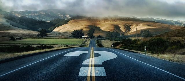 https://pixabay.com/photos/question-mark-road-away-forward-3849347/