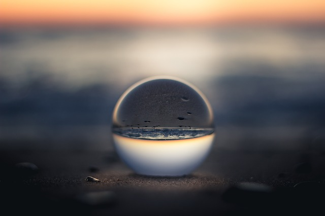 https://pixabay.com/photos/nature-water-glass-sphere-sunset-2563952/