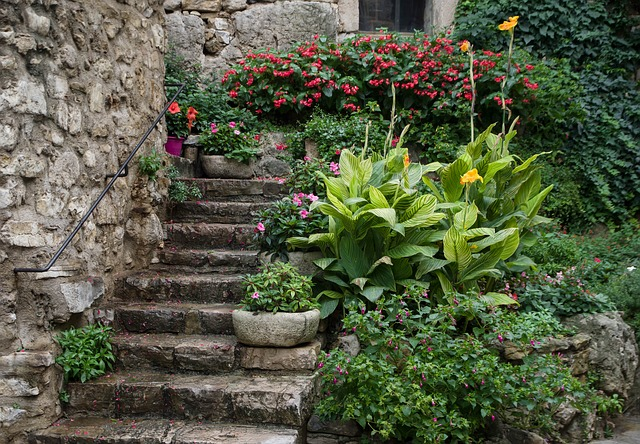 https://pixabay.com/photos/old-house-staircase-village-flower-3759033/