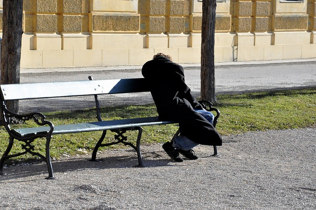 https://pixabay.com/photos/homeless-park-bench-person-penner-2216479/