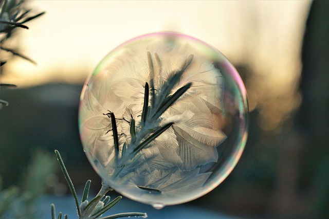https://pixabay.com/photos/soap-bubble-frozen-eiskristalle-4669665/