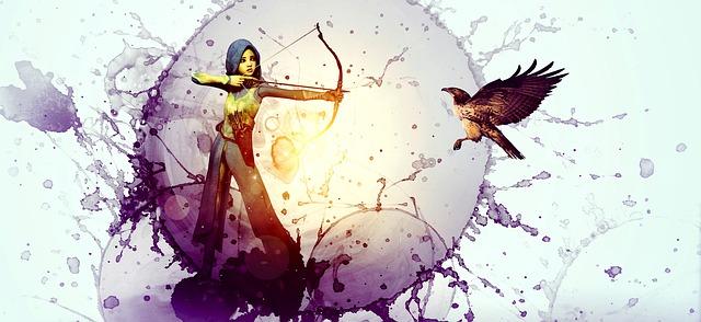 https://pixabay.com/de/illustrations/fantasy-j%C3%A4gerin-m%C3%A4dchen-vogel-4480581/